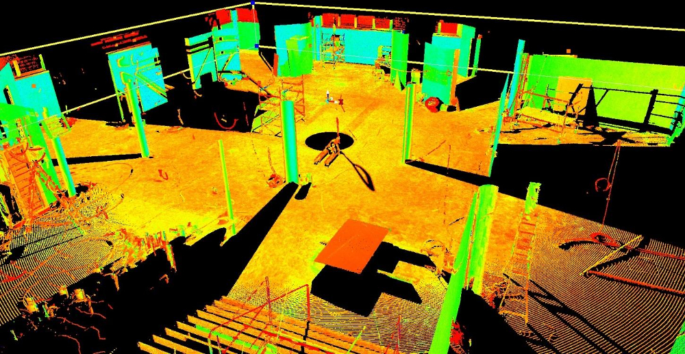 Double laser scan