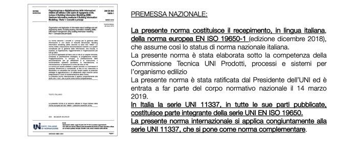 Premessa nazionale alla versione italiana della ISO 19650