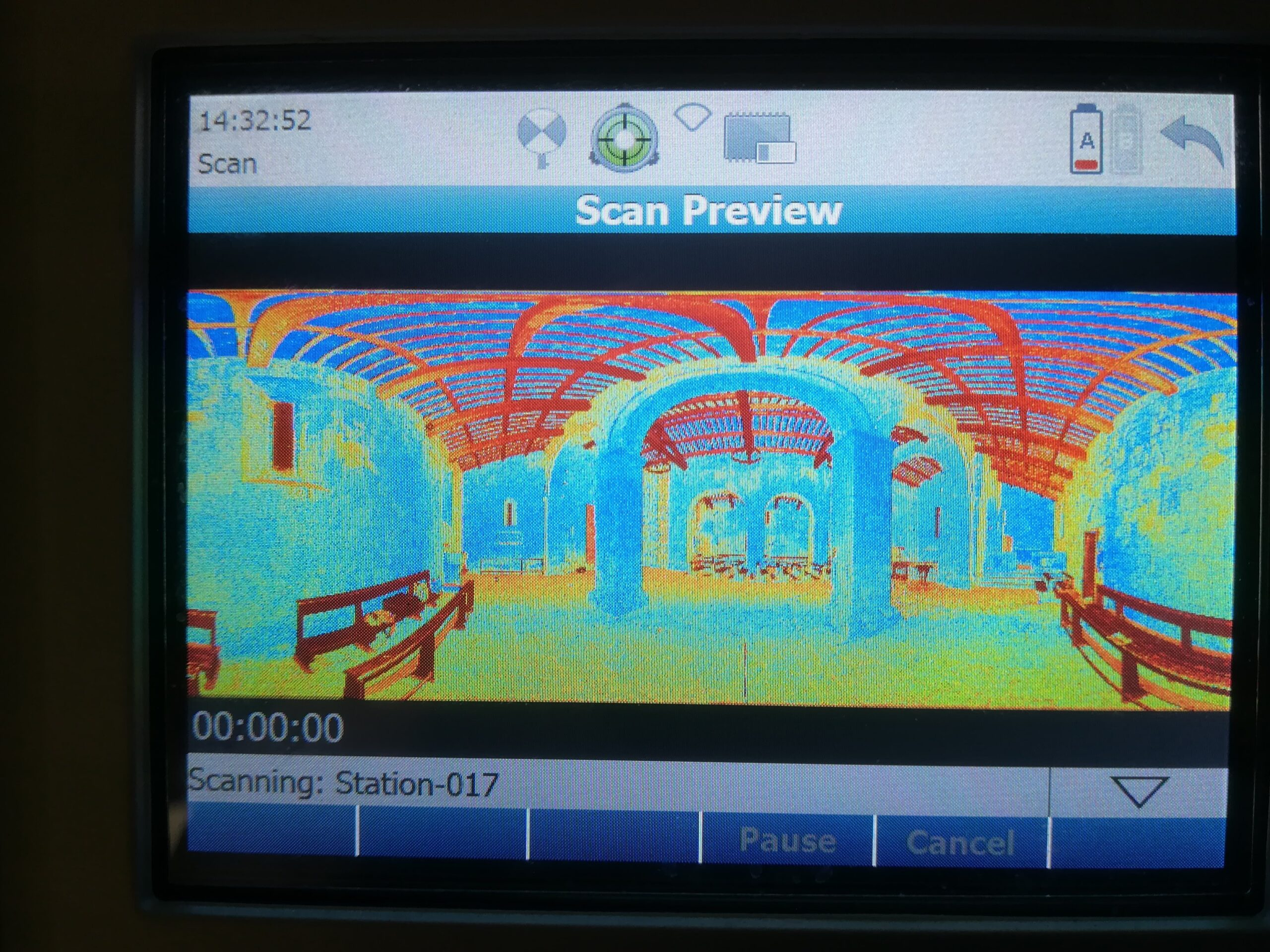 Rilievo laser scanner con acquisizione on site dei target